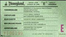 Old Disneyland E Ticket