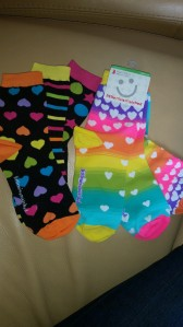 3 mix n' match socks - fun!
