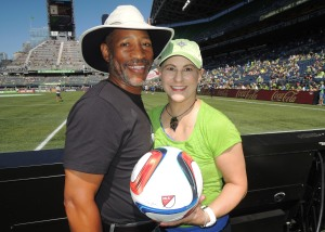 Mathis and Dana at the Sounders