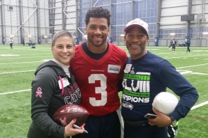 Our wonderful Russell Wilson, QB and amazing community member