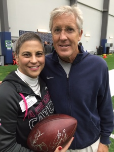 My new friend, Pete Carroll, Coach of the Seahawks!