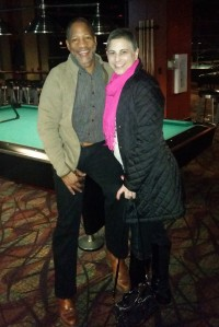Date night playing pool on October 31, 2015