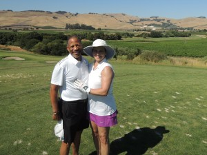 Mathis and Dana Golfing in Napa_072016